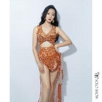 Belly Dance suit (performance dress) Gorgeous and unique Leopard orange leopard green S M L female A468 other Summer 2020