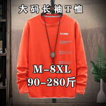 T-shirt Youth fashion Orange t218, light green t218, white t218, gray t217, light blue t217, white t217, orange t215, black t215, white t215, yellow t215 routine M,L,XL,2XL,3XL,4XL,5XL,6XL,7XL,8XL Others Long sleeves Crew neck easy Other leisure autumn Give up Large size routine tide other 2020