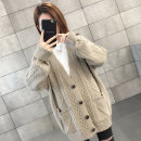 Wool knitwear Spring of 2019 Average size Yellow and red light coffee Long sleeves singleton  Cardigan other More than 95% Regular routine commute easy V-neck routine Solid color Single breasted Korean version XFX19030 18-24 years old Chevensie Pocket button Other 100% Pure e-commerce (online only)