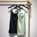 Dress Spring of 2019 Black, green S,M,L Short skirt singleton  Sleeveless street Solid color Socket 5-1890 Europe and America