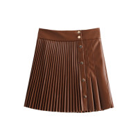 skirt Winter 2020 XS,S,M,L Purple, black, coffee Short skirt commute High waist Pleated skirt Solid color Type A 25-29 years old 8-61982G 51% (inclusive) - 70% (inclusive) other WHLP other Pleats, buttons Korean version