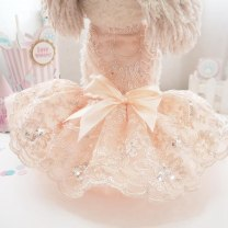 Pet clothing / raincoat currency Wedding dress S,XL,XS,L,M Other / other princess Light yellow, champagne, meat pink, charity baby