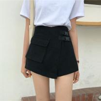 Jeans Summer 2020 Black, ginger S 〈 90-100kg 〉, m 〈 100-110kg 〉, l 〈 110-120kg 〉, XL 〈 120-135kg 〉, 2XL 〈 135-150kg 〉, 3XL 〈 150-165kg 〉, 4XL 〈 165-175kg 〉, 5XL 〈 175-200kg 〉 shorts High waist Wide legged trousers routine 18-24 years old Multiple pockets, others Dark color