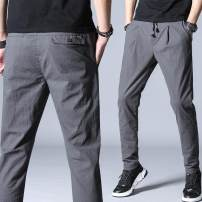 Casual pants Others Youth fashion Gray, black 28,29,30,31,32,33,34,36,38 trousers motion easy Micro bomb sfxs-5506 summer youth Exquisite Korean style 2018 middle-waisted Cotton 98% polyurethane elastic fiber (spandex) 2% Sports pants Pocket decoration No iron treatment Solid color cotton cotton