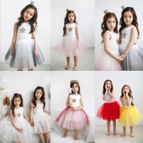 Dress female Other / other Cotton 95% polyurethane elastic fiber (spandex) 5% summer Skirt / vest Class A 12 months, 2 years old, 3 years old, 4 years old, 5 years old, 6 years old, 7 years old, 8 years old, 9 years old, 10 years old