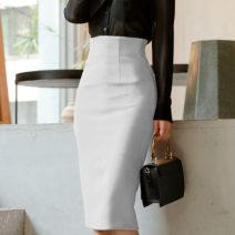 skirt Spring 2020 XS S M L XL XXL XXXL Red, black, white Mid length dress High waist Type A DYL864582 More than 95% Dieeyral / dieira polyester fiber Polyester 100%