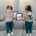 suit Other / other 66cm,73cm,80cm,85cm,90cm,95cm,100cm,105cm,110cm female spring and autumn princess Long sleeve + pants 2 pieces There are models in the real shooting Single breasted nothing Broken flowers cotton children birthday Class A Cotton 95% polyester 5%