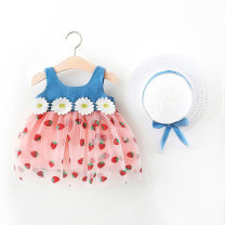 Dress White, pink female Other / other 66cm,73cm,80cm,85cm,90cm,95cm,100cm Cotton 90% polyester 10% summer princess Skirt / vest Fruits and Vegetables cotton Splicing style LYQ202103151 Class A 12 months, 6 months, 9 months, 18 months, 2 years, 3 years, 4 years Chinese Mainland