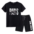 Leisure sports suit summer S M L XL 2XL 3XL 4XL 5XL Short sleeve Si Chi shorts teenagers T-shirt K912047 cotton Summer of 2019 Cotton 100%