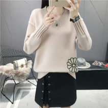 Wool knitwear Autumn of 2018 S M L XL Yellow black off white light coffee pollen Long sleeves singleton  Socket other More than 95% Regular routine commute Self cultivation V-neck routine Plants and flowers Socket Korean version YX18014 18-24 years old Hexiang Other 100% Pure e-commerce (online only)
