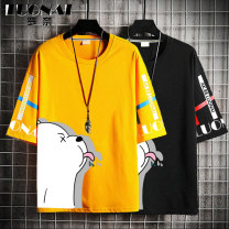 T-shirt Youth fashion Yellow white black routine M L XL 2XL Rosnay  Short sleeve Crew neck easy Other leisure summer LN21A-BZ0280C Cotton 100% youth routine tide other Summer 2021 other other Cartoon animation No iron treatment Pure e-commerce (online only)
