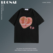 T-shirt Youth fashion Pink White Black routine M L XL 2XL Rosnay  Long sleeves Crew neck easy Other leisure summer LN20A-CJ6815 Cotton 95% polyester 5% youth routine tide Summer 2021 other other cotton No iron treatment Pure e-commerce (online only) 90% (inclusive) - 95% (inclusive)