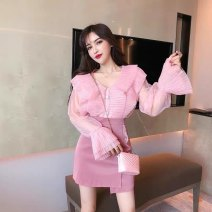 Fashion suit Spring 2021 S,M,L White top, pink top, skirt