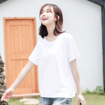 T-shirt S M L XL XXL XXXL Summer of 2019 Short sleeve Crew neck easy Regular routine commute cotton 96% and above 25-29 years old Korean version classic Solid color Cherry diary YT16T00199 Cotton 96% polyurethane elastic fiber (spandex) 4% Pure e-commerce (online only)