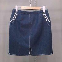 skirt Spring 2021 Waist 74.100-115kg blue