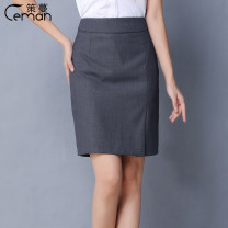skirt Summer of 2018 XS S M L XL 2XL 3XL 4XL 5XL Mid length dress commute Natural waist Suit skirt Solid color Type H 18-24 years old 71% (inclusive) - 80% (inclusive) Mance polyester fiber Ol style Polyester 80% viscose 20% Pure e-commerce (online only)