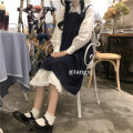 Dress Autumn 2020 Strap skirt, white skirt with shirt Average size Mid length dress Two piece set Sleeveless commute High waist A-line skirt straps 18-24 years old Type A Korean version 81% (inclusive) - 90% (inclusive) other