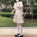 Dress Summer 2021 Picture color Average size Mid length dress singleton  Short sleeve Sweet V-neck High waist Decor Socket A-line skirt puff sleeve 18-24 years old Type A 31% (inclusive) - 50% (inclusive) other solar system