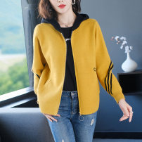 short coat Spring 2021 M L XL XXL XXXL Blue yellow black red Long sleeves have cash less than that is registered in the accounts thickening singleton  easy commute routine Hood zipper letter Hua Yuyue 96% and above Chain Pocket resin fixation mk6906210317 other Other 100%
