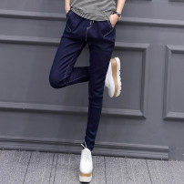 Jeans Spring 2021 Denim medium blue S M L XL 2XL 3XL trousers Natural waist Haren pants routine 25-29 years old Wash zipper Cotton elastic denim Dark color T17141 Tian Yiyi Cotton 75% polyester 23% polyurethane elastic fiber (spandex) 2% Pure e-commerce (online only)