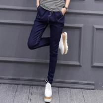 Jeans Spring 2021 Denim medium blue S M L XL 2XL 3XL trousers Natural waist Haren pants routine 25-29 years old Wash zipper Cotton elastic denim Dark color T17141 Tian Yiyi Cotton 75% polyester 23% polyurethane elastic fiber (spandex) 2% Pure e-commerce (online only)