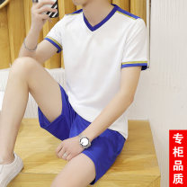 Leisure sports suit summer M L XL 2XL 3XL Short sleeve shorts youth T-shirt other Spring of 2019 100% polyester