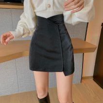 skirt Autumn 2021 S,M,L Black skirt, apricot skirt Mid length dress commute High waist A-line skirt Solid color Type A 18-24 years old D123 51% (inclusive) - 70% (inclusive) Korean version