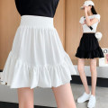 skirt Summer 2021 S,M,L White, black Short skirt commute High waist Pleated skirt Solid color Type A 18-24 years old GT 51% (inclusive) - 70% (inclusive) Korean version