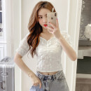 Lace / Chiffon Summer 2021 Apricot, white S,M,L,XL Short sleeve commute Socket singleton  Self cultivation have cash less than that is registered in the accounts V-neck Solid color puff sleeve 18-24 years old GT Korean version 51% (inclusive) - 70% (inclusive)