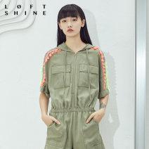 Casual pants green XS S M L XL Summer of 2019 shorts Jumpsuit Natural waist LOFTSHINE Lyocell 100%