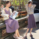 Fashion suit Winter of 2019 S M L XL Purple suspender skirt + sweater cardigan single purple suspender skirt single sweater cardigan 18-25 years old Buyido 96% and above Other 100% Pure e-commerce (online only)