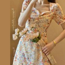 glove spandex Orange daisy dress S M L XL XXL Buyido Summer 2021