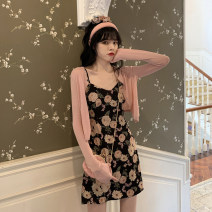 Women's large Summer 2020 Large L Large XL s M Two piece set commute Sleeveless Decor Korean version V-neck other Buyido 18-24 years old 96% and above Short skirt Other 100% Pure e-commerce (online only)