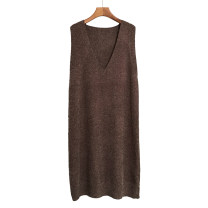 Vest Winter of 2018 Coffee black grey apricot Navy Avocado Green One yard spot have more cash than can be accounted for V-neck commute Solid color No buckle MRD1609 other 18-24 years old Meredith 30% and below Viscose Pure e-commerce (online only)