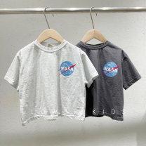 T-shirt White (in stock) , Black grey (in stock) , White (reserved) , Black grey (reserved) Other / other S(85-95),M(95-105),L(105-115),XL(115-125),JS(125-135),JM(135-145),JL(145-155) neutral summer Short sleeve Crew neck Korean version nothing other printing