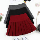 skirt Winter 2020 S M L XL XXL Red, black, grey Short skirt commute High waist Pleated skirt Solid color Type A 18-24 years old XMM-8647N More than 95% Beautiful countryside other fold Korean version Other 100% Pure e-commerce (online only)
