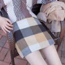 skirt Winter 2020 S M L XL 2XL brown Short skirt Versatile High waist A-line skirt lattice Type A 18-24 years old XMMN-1841 More than 95% Beautiful countryside other Other 100% Pure e-commerce (online only)