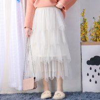 skirt Winter 2020 Average size White black gray off white pink longuette commute High waist Cake skirt Solid color Type A 18-24 years old XMM-1848N More than 95% Chiffon Beautiful countryside other Gauze Other 100% Pure e-commerce (online only)