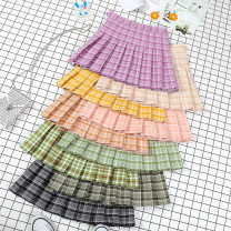 skirt Summer of 2019 XS S M L XL 2XL Short skirt Versatile High waist Pleated skirt lattice Type A 18-24 years old 71% (inclusive) - 80% (inclusive) Beautiful countryside polyester fiber Polyester 80% cotton 17% polyurethane elastic fiber (spandex) 3% Pure e-commerce (online only)