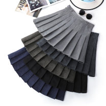 skirt Autumn of 2018 XS S M L XL 2XL 3XL Short skirt Versatile High waist Pleated skirt Solid color Type A 18-24 years old 71% (inclusive) - 80% (inclusive) brocade Beautiful countryside polyester fiber Pleated zipper panel Polyester 78% viscose 22% Pure e-commerce (online only)