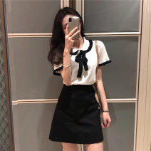 Fashion suit Summer of 2019 S M L XL Top + skirt 18-25 years old Jingshehan / golden Han Other 100% Pure e-commerce (online only)