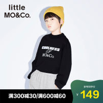 Sweater / sweater Little MO&CO. This is white and black neutral spring and autumn nothing Europe and America Socket There are models in the real shooting Cotton 90.1% polyester 9.9% Class B Autumn of 2019