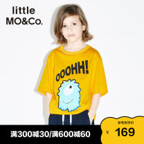 T-shirt Orange White Sapphire Blue Little MO&CO. 110/52 110/56 120/56 130/60 140/64 150/68 155/72 neutral summer Short sleeve Crew neck Europe and America There are models in the real shooting nothing Pure cotton (100% cotton content) Cartoon animation Cotton 100% KBO2TEE037 Class B Summer 2020