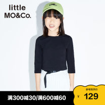 T-shirt black Little MO&CO. 110/52 110/56 120/56 130/60 140/64 150/68 155/72 female spring and autumn Long sleeves Europe and America There are models in the real shooting nothing cotton Cotton 95% polyurethane elastic fiber (spandex) 5% KBO1TEE028 Class B Spring 2020 Chinese Mainland Guangzhou City