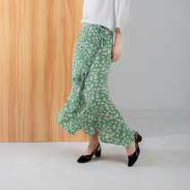 skirt Summer 2020 M L XL Mid length dress commute Natural waist Type H 30-34 years old More than 95% Pu Xu silk Retro Mulberry silk 100%
