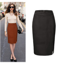 skirt Winter 2017 S M L XL XXL XXXL Caramel black deep purple Middle-skirt commute High waist skirt Solid color Type H 25-29 years old MY-1801 Wool Manyou Decorative stitching of open line Simplicity Pure e-commerce (online only)