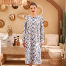 Dress Summer 2020 Decor S,M,L longuette singleton  Long sleeves commute Lotus leaf collar Loose waist Broken flowers Single breasted other routine Others 35-39 years old Type H Ground show Retro printing 6202L018 other