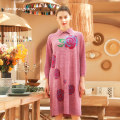 Dress Summer 2020 rose red S,M,L Mid length dress singleton  Long sleeves commute Crew neck Loose waist Decor Socket A-line skirt routine Others 40-49 years old Type H Ground show Retro Embroidery other other