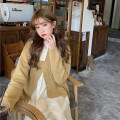 Wool knitwear Winter 2020 Average size Sweater piece, dress piece Long sleeves singleton  Socket other 30% and below routine commute routine Solid color Korean version 18-24 years old