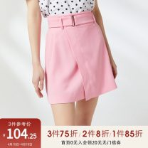 skirt Summer 2020 34/XS/155,36/S/160,38/M/165,40/L/170,42/XL/175 Pink Short skirt commute A-line skirt Solid color Type A 25-29 years old PR321501UT027 More than 95% other Peoleo / piaoyei Ol style
